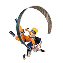 Naruto Shippuden GK GEM Uzumaki Naruto Uchiha Sasuke Battle Ver. Figurine de dessin animé modèle 19cm, Statue, jouet de collection, Figma