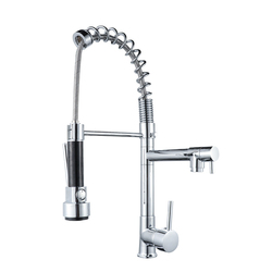 Hot And Cold Mixing Water Multi-functional Spring Pulling Kitchen Faucet Kitchen Sink Faucet Sanitary Ware