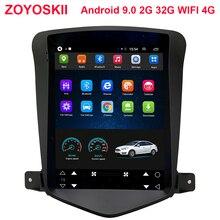 Android 8,1 os 9,0 de 10,4 pulgadas IPS vertical HD gps del coche de la pantalla multimedia radio navegación carplay para Chevrolet Cruze 2009-2015