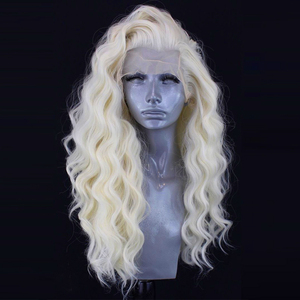 Image 2 - Charisma #60 Platinum Blonde Wig With Natural Hairline Synthetic Lace Front Wig Glueless Heat Resistant Pink Wigs For Women
