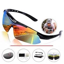 Sports equipment cycling glasses unisex sports riding sunglasses running with 5 interchangeable lenses