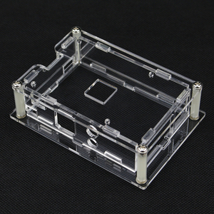 S ROBOTER Für Raspberry Pi 4 Acryl Fall Transparent Shell für 3,5 inch HDMI Touch Screen Display für Raspberry Pi 3 RPI102