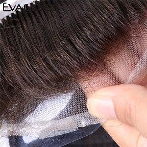 Image 3 - Evaglossメンズかつら 100% 本物の自然なレミー人間の髪かつらフレンチレース薄型puかつらの毛の交換システム