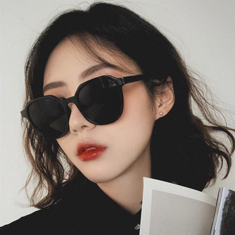 Men/'s Women/'s Black Oversize Round Style Sunglasses Cat 3 UV400 New