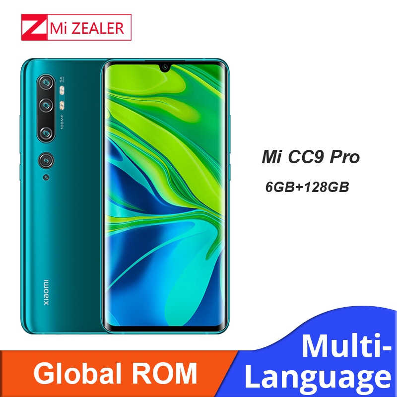 Global ROM Xiaomi Mi CC9 Pro Smartphone 6GB RAM+128GB ROM 108MP Penta Camera 5260 MAh Battery Snapdragon730G Cellphone