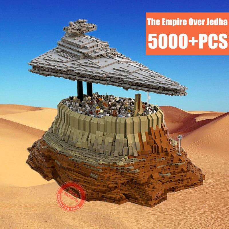 MOC MOC-18916 Star First orden destructor Starwars el imperio sobre Jedha adecuado Legoings Star Wars modelo bloques de construcción Juguetes