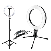 26cm/18cm Ring Light Photographic Lighting 3 Modes Light For Photo Tripod 0.6m Stand Usb Plug New Arrival Ring Light For Camera|사진 조명|   -