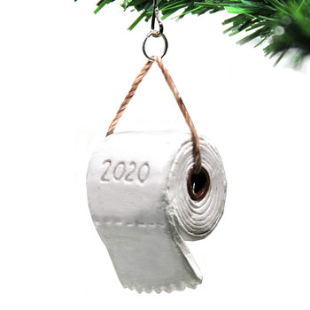 top selling 2020 Christmas Tree Pendant Toilet Paper Crisis Pandemic Ornament Decoration 2020Gift Support Wholesale Dropshipping image