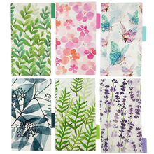 6PCS/Set Of A6 Size Loose Leaf 6 Ring Planner Plastic Waterproof Adhesive Index  Indexer Various Pattern Designs