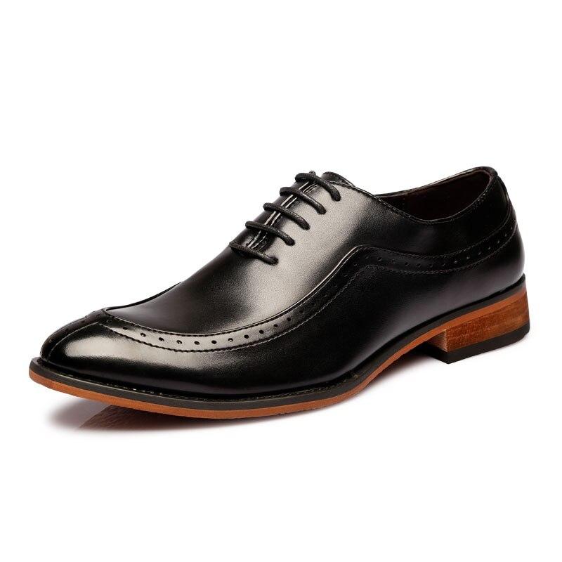 Affaires de luxe marque Oxford chaussures hommes en cuir chaussures en caoutchouc robe formelle chaussures bureau fête mariage chaussures mocassins baskets IV