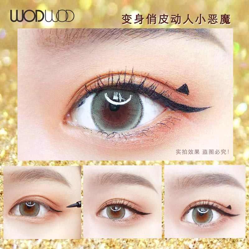 Новинка, Звездный бриллиант, блестящая водостойкая жидкая подводка для глаз, быстросохнущие инструменты для макияжа, Стойкая подводка для глаз, черная косметика для красоты