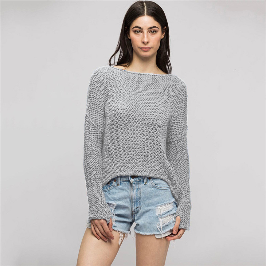 Winter Autumn Winter Women Sexy Casual Solid Long Sleeve O-Neck Lazy Loose Sweater Pull Femme Sweaters Women Invierno 2019