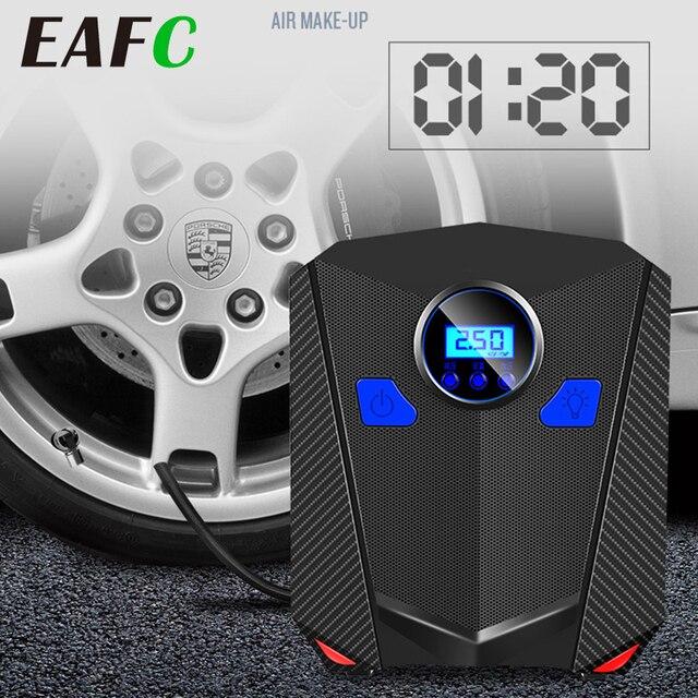 مضخة ضاغط هواء للسيارة عالمية منفاخ إطارات رقمي 120 واط 150PSI مضخة هواء مع مقياس إيقاف تلقائي وطوارئ قوية