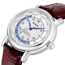Worldtimer Automatic Self-wind Men Watches Stainless Steel Mechanical