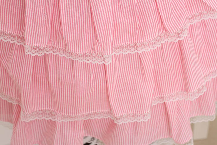 Princess sweet lolita dress Pink adorable dress Japanese Princess sweet soft sister ball gown Cake dress fashion women GZWY161 - 2