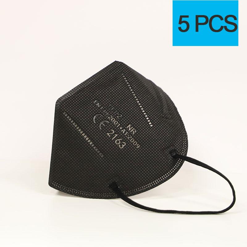 5PCS BLACK
