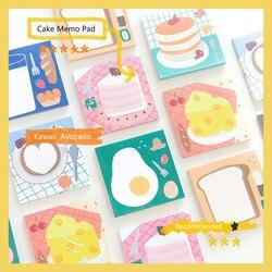 Mohamm 50 Pcs/lot Kawaii Bear Cake Notepad Cute Cartoon Memo Pad School Supplies Paper Stationary Office Decoration Accessories