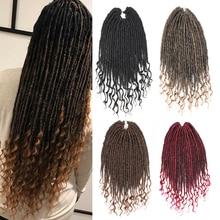Pageup 16 дюймов богиня искусственные локоны в стиле Crochet волосы плетение волос черный коричневый синтетический крючком коса Наращивание волос 24 пряди/шт