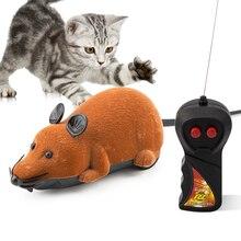 ของเล่นเมาส์ไร้สาย RC เม้าส์แมวของเล่นรีโมทคอนโทรลเมาส์ Novelty RC แมวตลกเล่นเมาส์ของเล่นสำหรับแมว