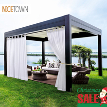 NICETOWN двойные отвесные шторы панели для патио и сада таб топ водонепроницаемый открытый Крытый конфиденциальности вуаль шторы с 2 бонусными веревками