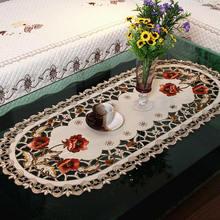 40*85cm Vintage bordado flor mantel hueco mesa de café estera mesa de comedor tela boda fiesta eventos banquetes hogar Decoración