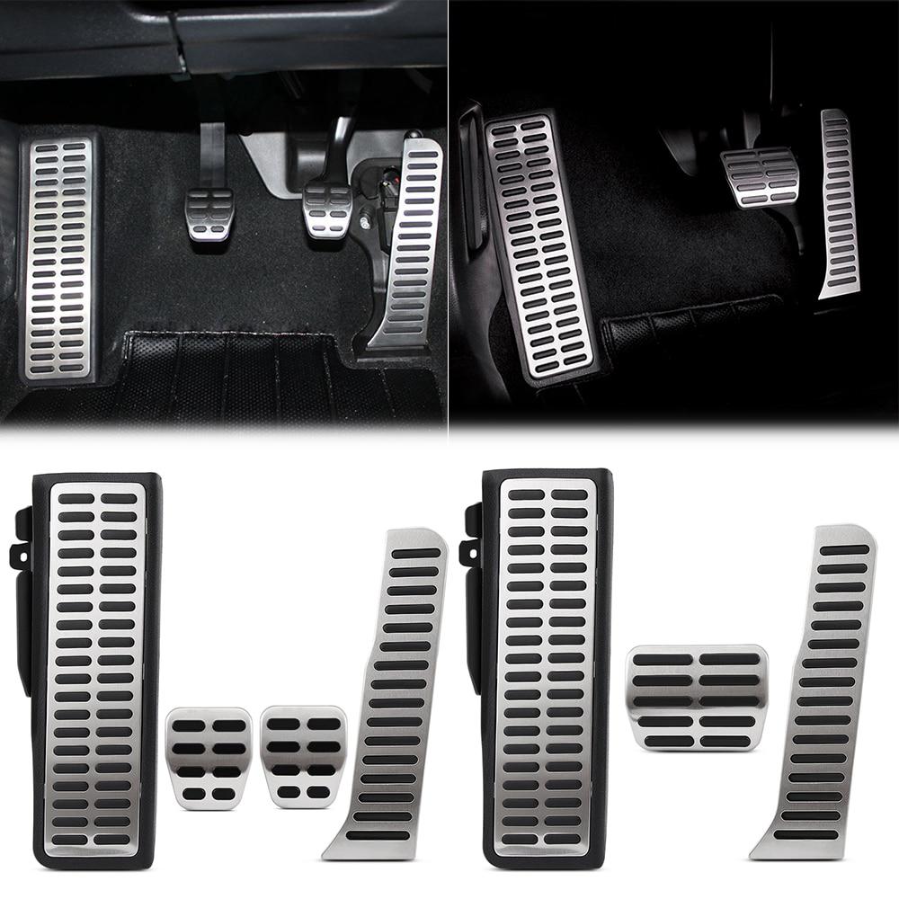Pédale argentée noire de qualité garantie, manette de vitesse pour pied adaptée à la Jetta Mk5 Golf 5 6 Scirocco CC lapin EOS Tiguan Touran/Skoda Octavia A5, superbe Yeti pour siège.