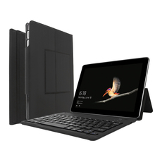 Tablet Keyboard Surface Go-body Ultra-thin Bluetooth Keyboard Holster with Touchpad Scratch-resistant PU Leather ABS