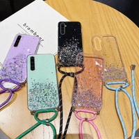 Funda de teléfono de silicona para Realme, carcasa de lujo con cordón ostentoso ultrafino para 8, 7, 6, 5 Pro, X2, XT, X 3, X50, C15, C12, C11