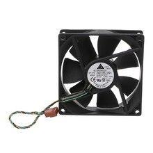 Ventilador de refrigeração do computador, qualidade superior 90*90*25mm 9025 dc 12v 0.6a 4 pinos pwm para delta ›