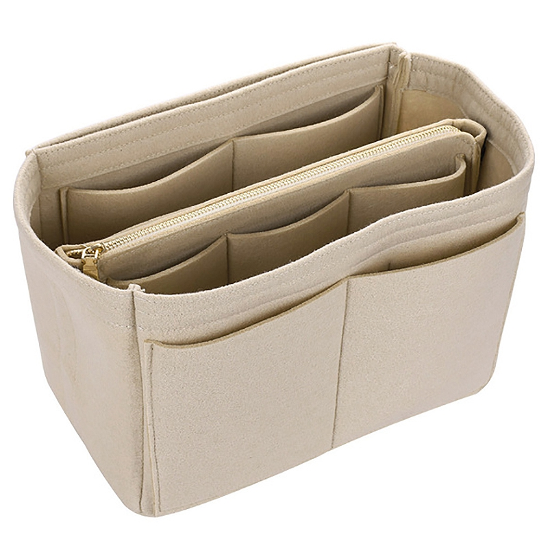 Makeup Bag Cosmetic Cases Felt Bag Organizer Insert Cosmetic Bags Makeup Case Travel Toiletry Bag Handbags Organizer