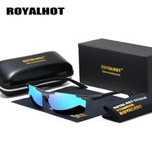 RoyalHot lunettes de soleil polarisées à monture en aluminium magnésium, pour la conduite, lunettes de soleil Oculos masculino, pour hommes et femmes, 900p60