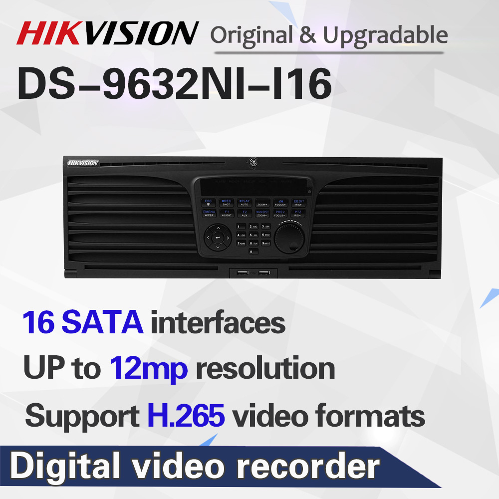 Английский-Ver DS-9632NI-I16 NVR 32CH поддержка 12MP камера 16SATA для 16HDDs HMDI 4K NVR RAID CCTV система