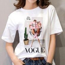 Женская футболка с модным принтом в стиле Харадзюку круглым