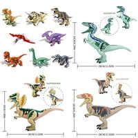 Tier welt Jurassic Welt Park Dinosaurier Baryonyx Velociraptor Tyrannosaurus Rex Fakten Bausteine Spielzeug Für Kinder Geschenke