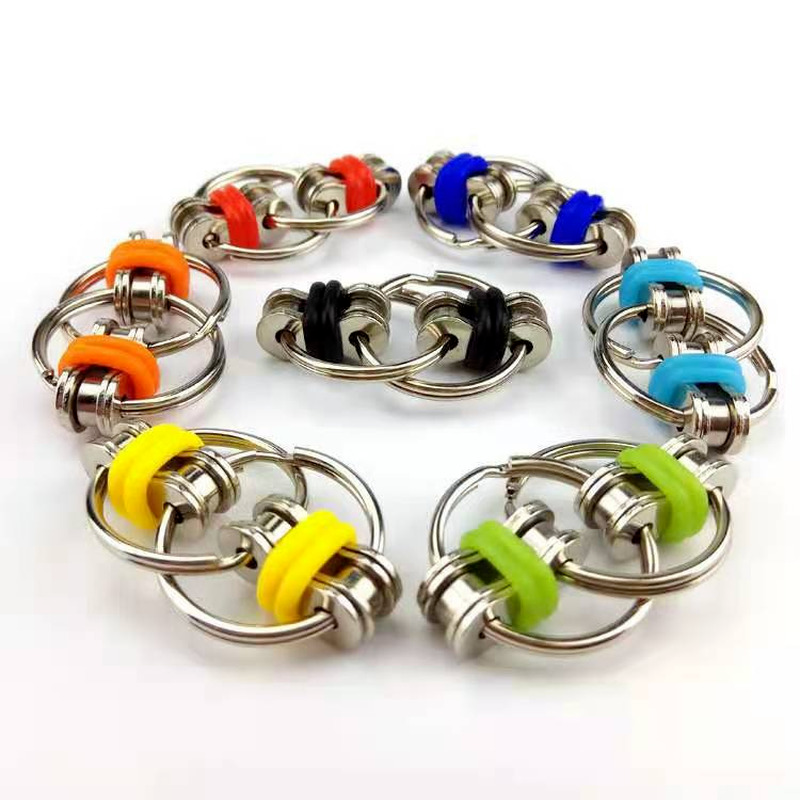 Toys Bike-Chain Fidget-Toy Autism Stress Hands ADHD Children for Funny 1PC 5-Colors Creative