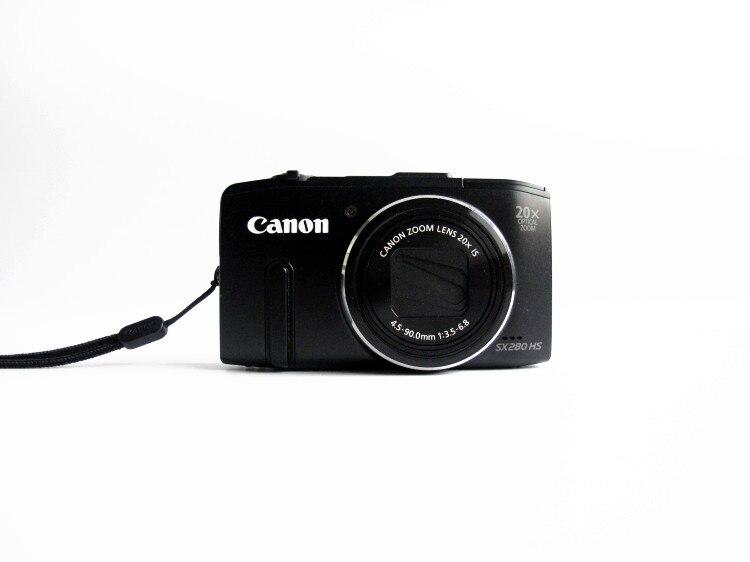 Canon PowerShot usado, cámara Digital SX280 12.1MP, con Zoom estabilizado de imagen óptica 20x con LCD de 3 pulgadas Medidor de vídeo y adaptador BNC ESCAM de 5M a 60M, potencia 12V CC, Cable integrado para cámara analógica CCTV DVR, Kit de sistema de cámara
