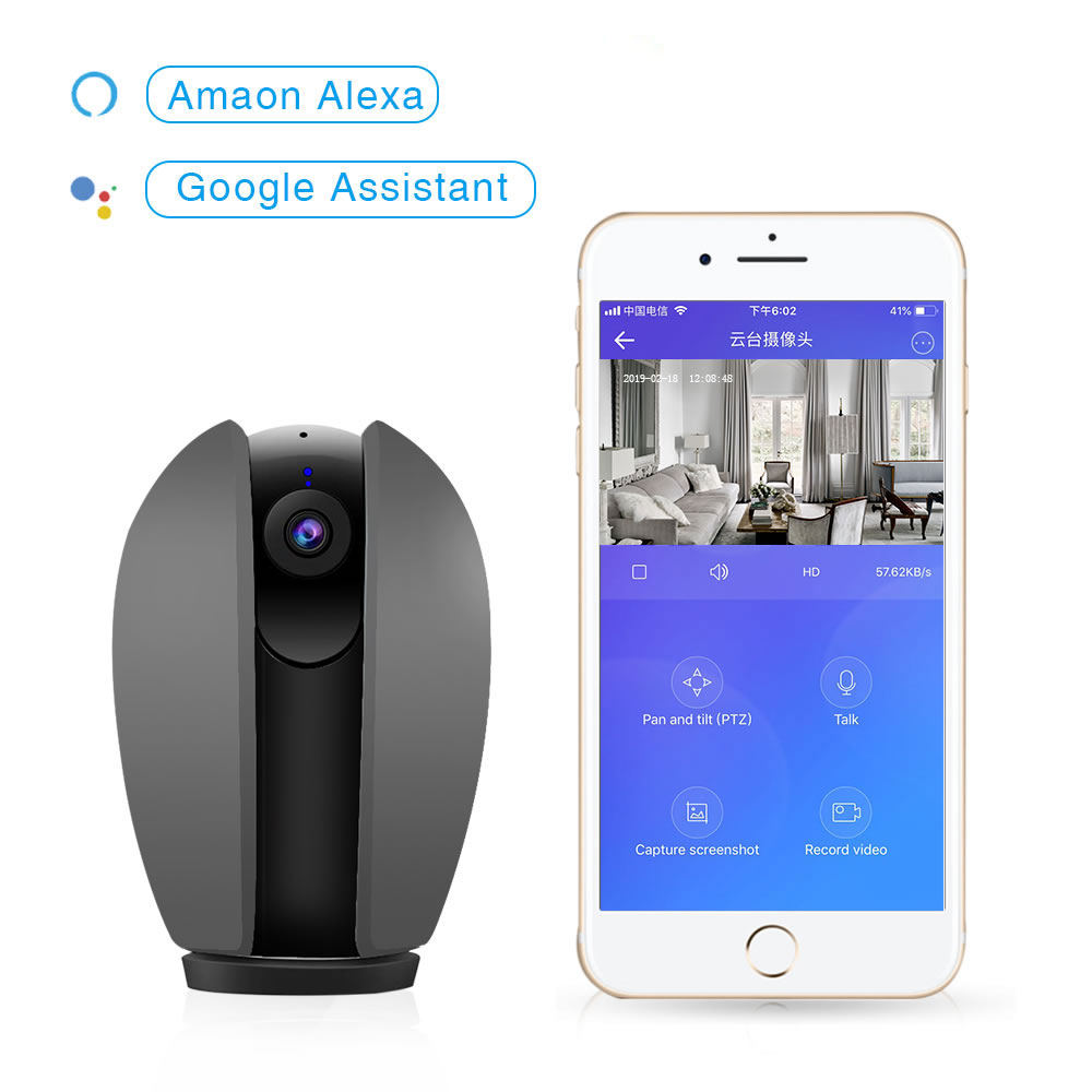 2019 smart home 360 degree 1080P wireless camera panorama through IOS Android EWELINK APP 10 meters infrared distance detection