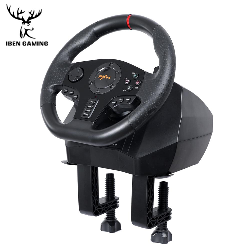 PXN V900 Gamepad Controller Gaming Steering Wheel 900° Racing Video Game Vibration For PC/PS3/4/Xbox-One/Xbox 360/N-Switc 3