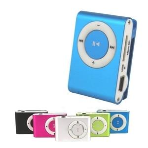 Image 1 - 1PCs Mini Tragbare USB MP3 Player Mini Clip MP3 Wasserdichte Sport Compact Metall Mp3 Musik Player mit TF Karte slot Candy Farben