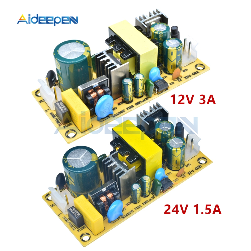 AC 100V-240V to DC <font><b>12V</b></font> 3A 24V <font><b>1.5A</b></font> 36W Switching <font><b>Power</b></font> <font><b>Supply</b></font> Module AC-DC 12V3A 24V1.5A <font><b>Power</b></font> <font><b>Supply</b></font> Module For Replace Repair image