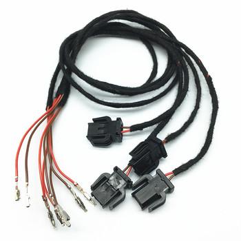 Samochód oświetlenie drzwi zapraszamy ostrzeżenie lekki przewód kable w wiązce dla Audi A1 A2 A3 S3 A4 B8 S4 A5 A6 C6 C7 S6 A7 A8 S8 Q3 Q5 Q7 TT RS3 tanie i dobre opinie SEESCXT Linie świetlne CN (pochodzenie) 9005 HB3 led Door Light Cable 3000 k For audi car model seat