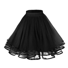 Womens vintage petticoat tutu petticoat 3 tier ribbon. Birthday party Christmas everyday dress
