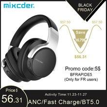 Mixcder E7 Attivo A Cancellazione di Rumore Cuffie Bluetooth Senza Fili con Microfono Hi Fi Stereo Cuffia Profonda Bass Over Ear Cuffia