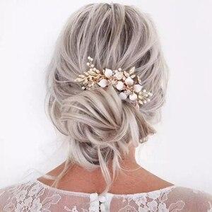 Ślubne włosy grzebień kwiat perła panie włosy biżuteria dekoracyjna kwiatowe akcesoria do włosów ślubny grzebień do włosów biżuteria ozdoba głowy