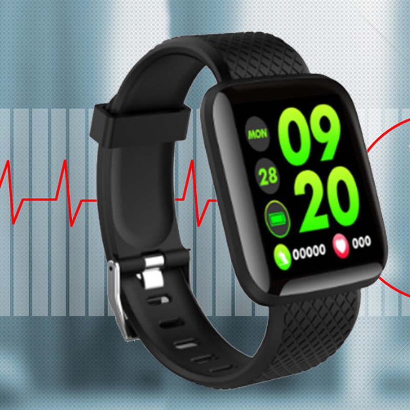 Smart Wristband Oximeter Color Touch Screen Detect Heart Rate Sleep Messages Reminder Waterproof Fitness Pedometer