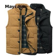 Spring And Autumn Men's Shirt Cotton Vest Jacket Casual Vest Waistcoat Stand-up Collar Men's Coat 3671
