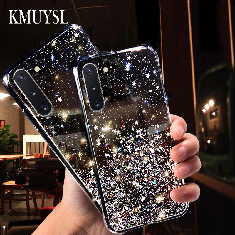 Glitter Bling Silicone Case For Samsung A50 A10S A20 A30S A40 A60 A70 A80 A90 A7 2018 M30 Galaxy Note10 9 8 s8 s9 s10 Plus Cover image