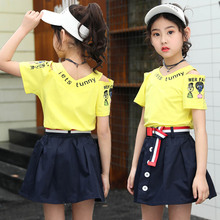 Summer New T-Shirt Clothing Set Short Skirt Girls Two Piece