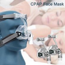 Маска на все лицо CPAP Авто CPAP BiPAP маска с бесплатным головным убором респиратор маски белые для сна апноэ OSAS храп людей