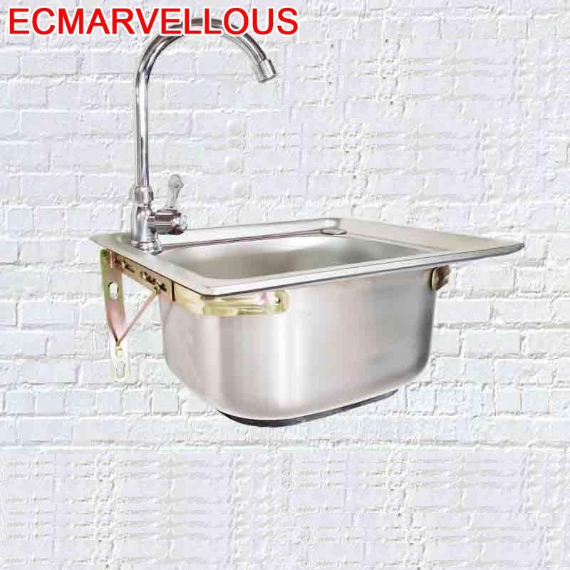 Umywalka Stainless Steel Portatil Acero Inoxidable Escurridor Lavello Faucet De Cocina Cuba Pia Cozinha Fregadero Kitchen Sink